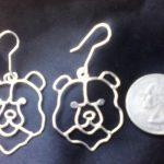 sterling hillcrest bear earrings
