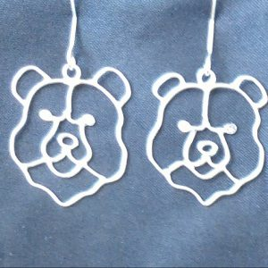 sterling hillcrest bear earrings