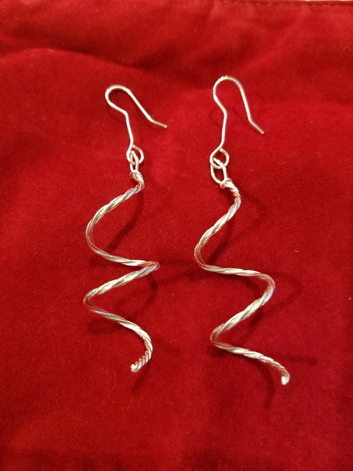 twisted sterling silver
