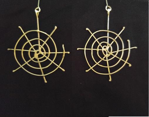 sterling silver web earrings