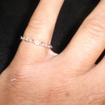 sterling silver beveled link chain ring