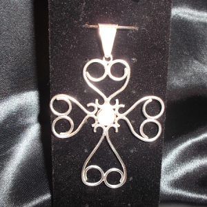sterling filigree cross pendant