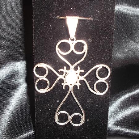 sterling filigree cross pendant