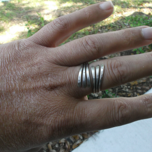 3 strand sterling silver ring